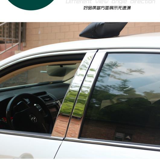 AL 車用メッキパーツ トヨタ カムリ 2013 2014ステンレス スチール ウィンドウトリムガラスストリップB + Cセンターピラープロテクターカバーウィンドウ デコレーション 6ピース AL-AA-1157