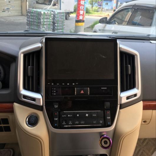 AL 車用メッキパーツ カースタイリング トヨタ ランド CUISER LC200 2016 2017 ABS クロームインテリアセンターエアコン アウトレット カバートリム デコレーション 2ピース AL-AA-1161