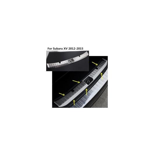 AL 車用メッキパーツ カー 内部リアバンパートリムステンレススチールスカッフトランクプレートパネルペダル1ピース セット スバルXV 2012 2013 2014 2015 AL-AA-1091