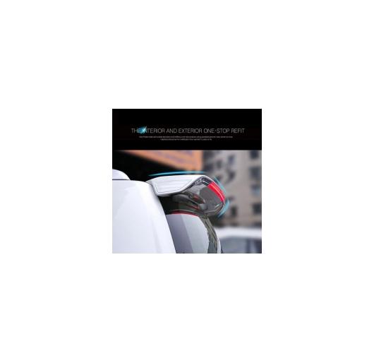 AL 車用メッキパーツ カー アクセサリー ABS プラスチック塗装リアルーフウイングスポイラー LED トヨタ ランド クルーザー 200 LC200 FJ200 2010-2016 AL-AA-1205