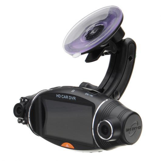AL カー用品カメラ 8ピース2.7インチ 1080P カー HDデュアルカメラDVRダッシュカムビデオレコーダーGPS Gセンサービデオカメラキット AL-AA-1621