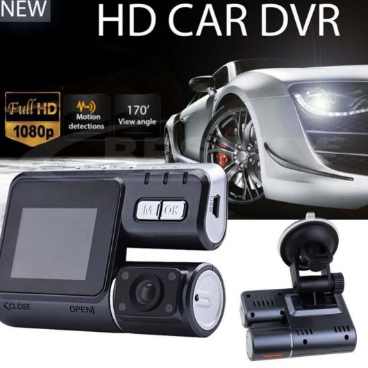 AL カー用品カメラ 2017 HD 1080P デュアルレンズ カー DVRカメラ ダッシュボード ビデオ記録Gセンサーカメラ AL-AA-1715