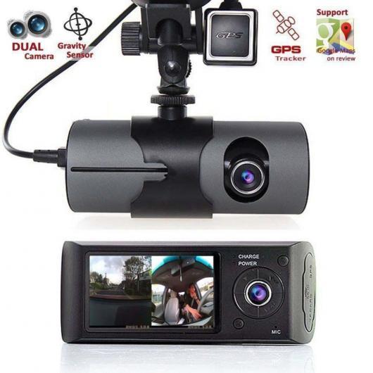AL カー用品カメラ 2017 車載カメラ 2.7 ″ カー DVRカメラ ビデオ レコーダー GセンサーGPSデュアル カメラ AL-AA-1717
