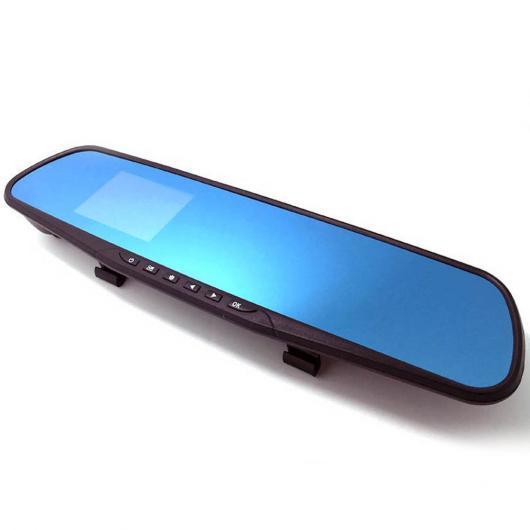 AL カー用品カメラ ブルーミラー 1080P HDワイドHDドライブ レコーダー 4.0インチ デュアルカメラ カー DVRカメラバックミラー 車載カメラ AL-AA-1720