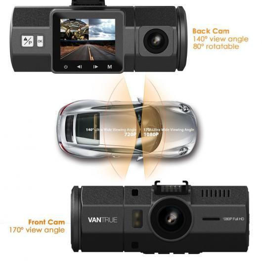 AL カー用品カメラ デュアルレンズ カー DVR-1080P FHDフロント 付近 広角 カメラ 車載カメラ Gセンサー パーキング モード AL-AA-1724