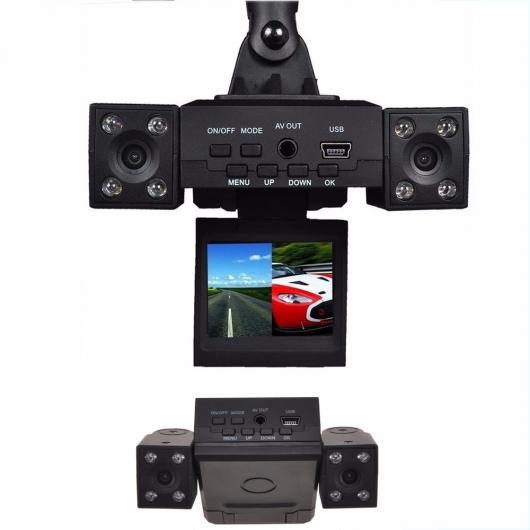 AL H3000 2.0インチTFT LCD スクリーン カー DVR 8 LED IRナイトビジョンデュアルカメラ270度 回転式レンズ レコーダー AL-AA-1727