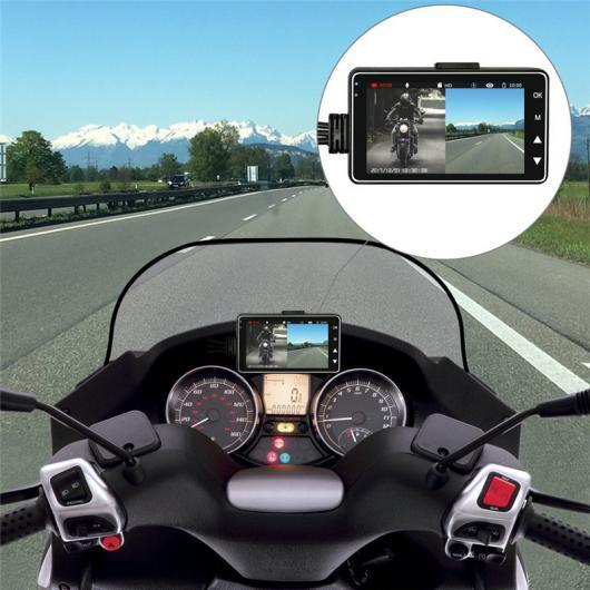 AL カー用品カメラ オートバイ カメラDVRモーター 車載カメラ 特殊デュアルトラックフロントリア レコーダー バイクエレクトロニクス AL-AA-1750