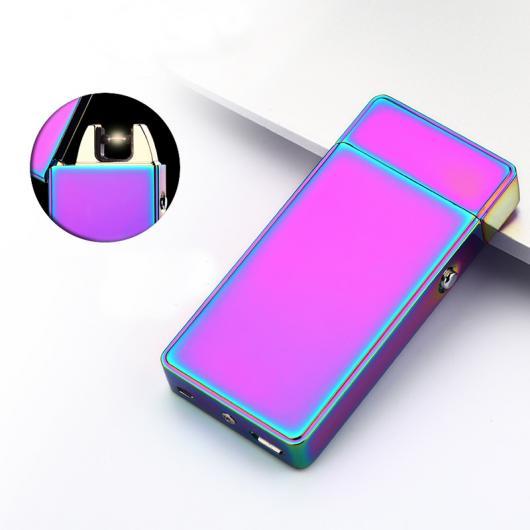 AL USBライター ピュアカラー アークライターUSB充電式ライターパルス メタル 電子タバコライター 選べる5カラー ブラック,レッド,ブルー,イエロー,パープル AL-AA-2013