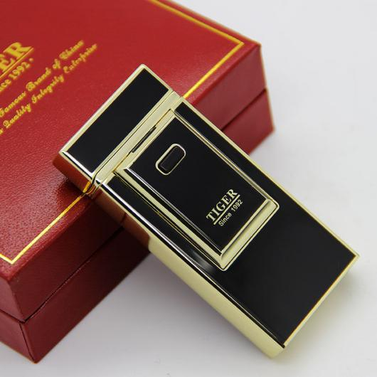 AL USBライター タイガー 電気アークたばこシガー USBライター 充電式 選べる3カラー ブラック,ゴールド,シルバー AL-AA-2020