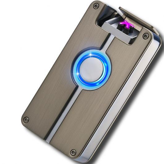 AL USBライター インテリジェントUSBアークライターデュアル アークライター指紋誘導充電 メタル 防風 ガスなし 喫煙タバコ 選べる4カラー カラー1,カラー2,カラー3,カラー4 AL-AA-2064