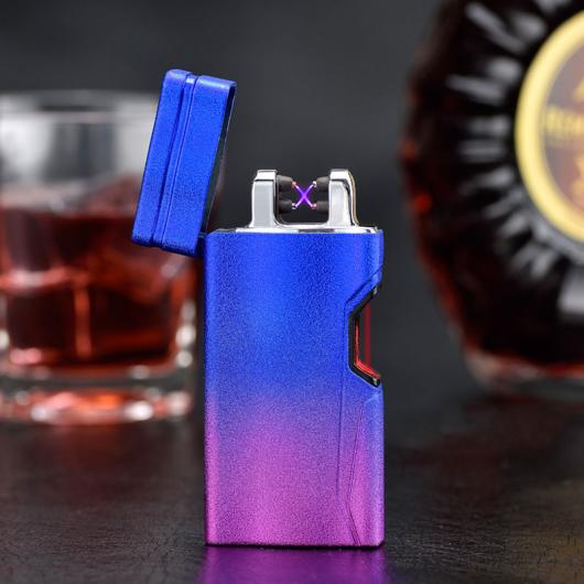 AL USBライター 電気USB 2時間高速充電赤外線センサースイッチタバコフレームレスライタープラズマ 選べる5カラー ブラック,マットシルバー,マットブラック,マットブルー,マットゴールド AL-AA-2082