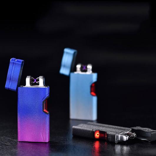 AL USBライター ファッション赤外線センサースイッチライターUSBダブルアーク防風フレームレスライター高速充電シガーライター 選べる5カラー ブラック,レッド,イエロー,マットブルー,マットゴールド AL-AA-2087