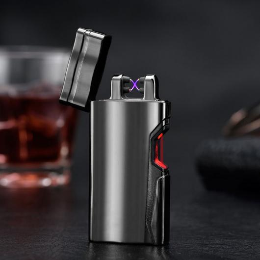 AL USBライター 2017スマート赤外線センサースイッチシガーライター喫煙アクセサリーUSB高速充電 メタル つや消し防風ライター 選べる5カラー AL-AA-2093