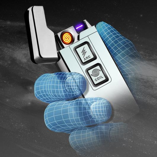 AL USBライター 2017 2in1 コイル アークライタースマート電子 USBライター 2ウェイ タッチ誘導点火 メタル シガーライター 選べる5カラー カラー1,カラー2,カラー3,カラー4,カラー5 AL-AA-2097