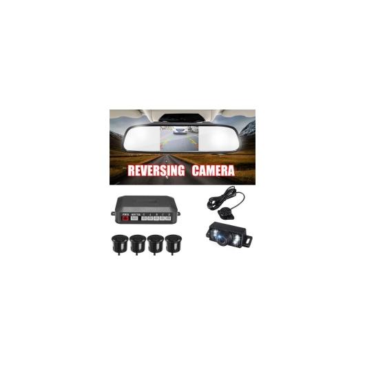 AL カー用品カメラ 3IN1 カー ビデオ リバース パーキング センサー アシスト 接続リアビューカメラCAN ディスプレイ 距離上4.3インチ カー ミラーモニター AL-AA-1642