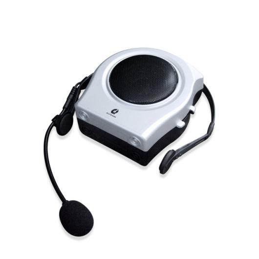 AL スピーカー ミニ ポータブル ツアーガイド音声 スピーカー アンプ メガホン 拡声器ブース ツアー PAシステム 教師教室公共 スピーチ シルバー AL-AA-2193