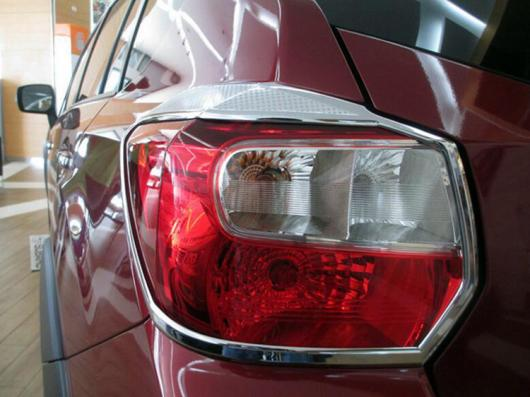 AL 車用メッキパーツ ABS クロームリアテールライトランプ カバー 2ピース セット スバル XV Crosstrek 2012 2013 2014 2015 2016 2017 AL-AA-2474