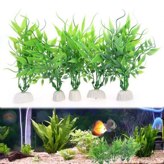 AL アクアリウム 10ピース ロット 人工 水族館 植物水生グリーン植物 水族館 水槽 15cm 高さ ホワイト XS AL-AA-2839