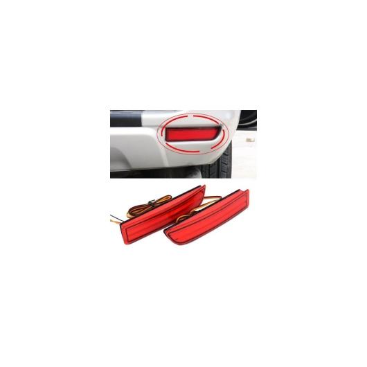 AL 車用メッキパーツ トヨタ エスティマ レッド レンズリアバンパーリフレクターリフレクター LED ブレーキライト DRL アベンシス アルファード AL-AA-4866
