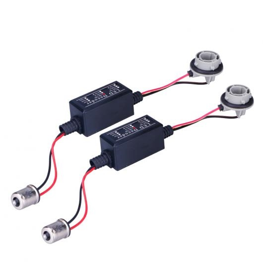 AL キャンセラー 2ピース 1156 BA15S P21W CAN-BUS エラーフリー抵抗 LED デコーダ ノーモアOBC ワーニング エラー ウインカー バルブ AL-AA-5793