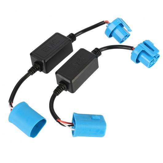 AL キャンセラー 2 × 9007 カー LED ヘッドライト球根ドライビングフォグライト CAN-BUS エラーフリーアンチフリッカー抵抗 デコーダ D40 AL-AA-5842