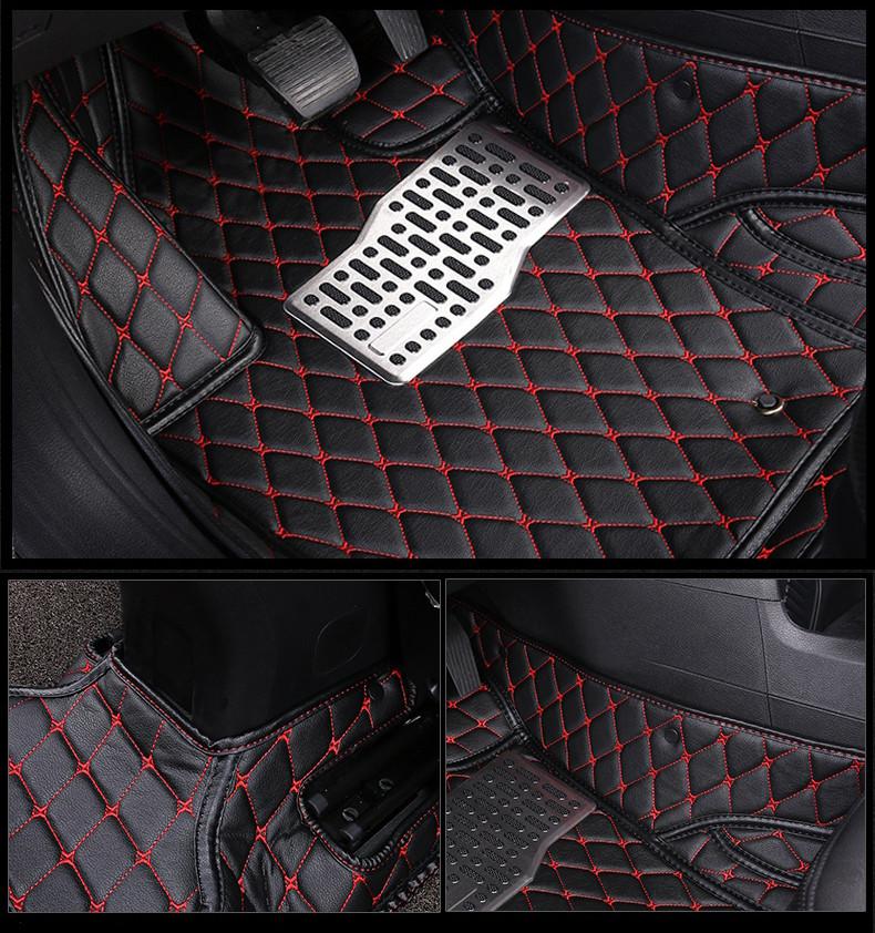 AL 車用メッキパーツ カー フロアマット スバル アウトバック2015-2018 フット カーペットパッドマットステップ刺繍 レザー インテリアマット カーペット 選べる8バリエーション AL-AA-5885