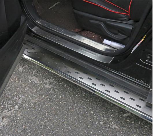 AL 車用メッキパーツ ランニングボード ナーフ バー サイドステップ 日産 エクストレイル ローグ2014-2017 2ピース AL-AA-6021