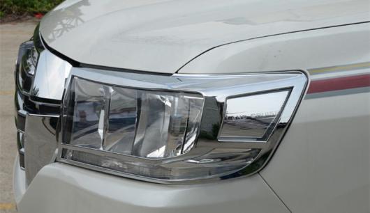 AL 車用メッキパーツ 2016 クローム フロント ライト ランプ カバー トヨタ ランドクルーザー V8 LC 200 2ピース AL-AA-6254
