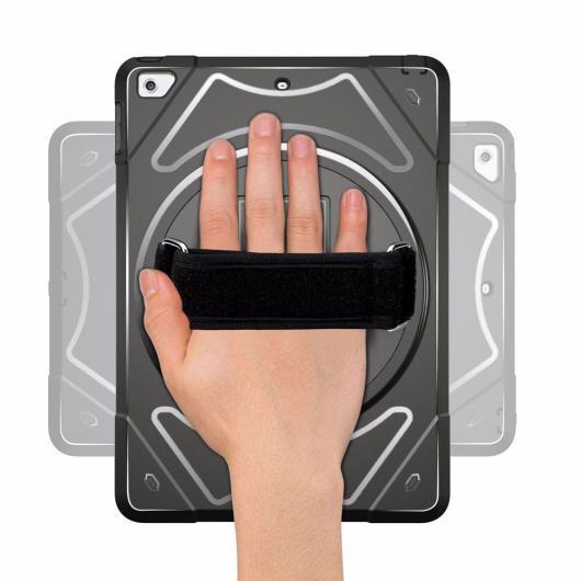 AL iPadケース 耐衝撃 ケース 2018 2017 9.7 カバー キッズ シェル 360 スタンド肩ハンドストラップ ケース iPad 5th 6th 世代 選べる6カラー ブラック,レッド,ブルー,グリーン,パープル,ピンク AL-AA-6409
