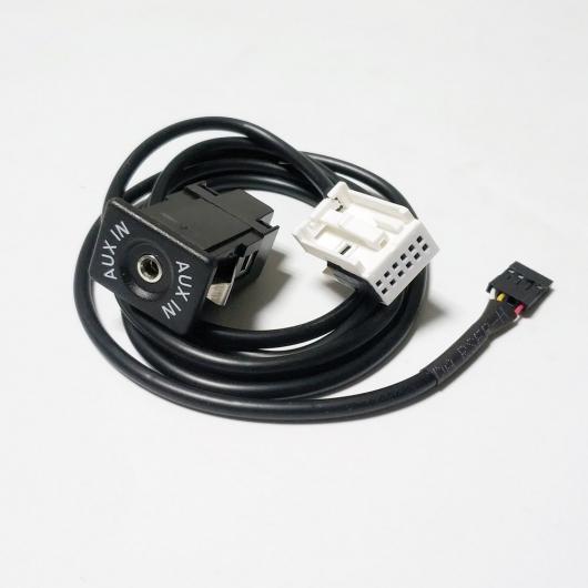 AL 車用ケーブル AUX IN 3.5mm オーディオ ソケットポート メルセデス・ベンツ W169 W203 W209 W251 12ピン CD チェンジャーソケット AL-AA-6740
