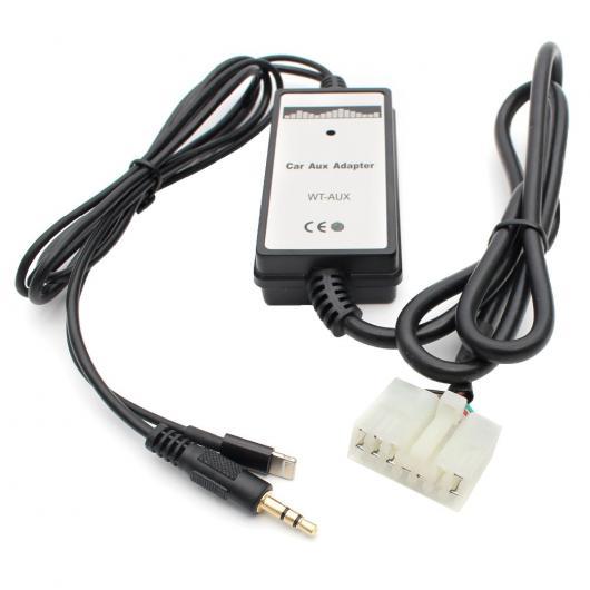 AL 車用ケーブル カー オーディオ AUX アダプタ MP3 プレーヤー 3.5 mm AUX+iPhone トヨタ レクサス 5+7 カローラ アベンシス カムリ RAV4 AL-AA-6757