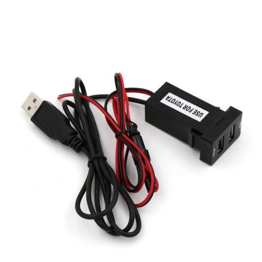 AL 車用ケーブル 5V 2.1A USB インタフェースソケット充電器 オーディオ 入力ソケット トヨタ カムリ カローラ ヤリス RAV4 レイツ ランド クルーザー AL-AA-6761
