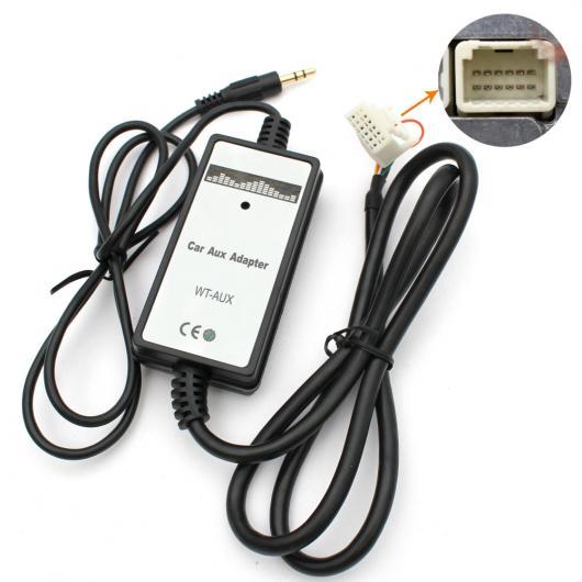 AL 車用ケーブル カー オーディオ MP3 プレーヤー AUX アダプタ 3.5 mmインタフェース 携帯 電話 トヨタ カムリ カローラ ヤリス AL-AA-6767