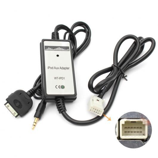 AL 車用ケーブル カー オーディオ CD チェンジャー MP33 3.5 mm AUX アダプタ ランド クルーザー アベンシス RAV4 トヨタ タコマ タンドラ ヴェンザ ヴィッツヤリス AL-AA-6781