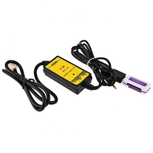 AL 車用ケーブル カー CD アダプタ MP3 オーディオ インタフェース AUX SD USB データ ケーブル 12P 接続 チェンジャー トヨタ レクサス サイオン AL-AA-6802