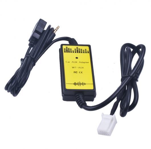 AL 車用ケーブル カー CD アダプタ MP3 オーディオ インタフェース AUX USB SD 2×6 P接続 チェンジャー トヨタ カムリ カローラ オーリス レクサス AL-AA-6839