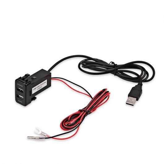 AL 車用ケーブル トヨタ ハイラックス VIGO USB インタフェース ダッシュボード ポート5V 2.1A 充電器 オーディオ 入力ソケット充電器 AL-AA-6885
