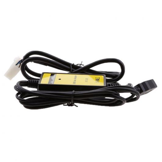 AL 車用ケーブル 12-24V オーディオ ラジオ3.5mmAUXイン MP3 プレーヤー USB インタフェース アダプタ リプレースメント 5+7ピン トヨタ 4 4ランナー レクサス AL-AA-6891