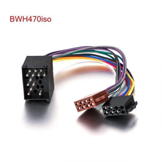 AL オーディオ ステレオ ISO 標準配線ハーネス BMW 3 5 7 8 シリーズ E46 E39 ミニ カー CD ラジオコネクタワイヤーアダプタープラグ ケーブル BWH470iso AL-AA-7058