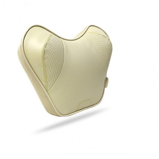 AL オート パーツ 2ピースネック枕 カー クッションオート枕 レザー 低反発枕 ヘッド 1 beige neck pillow AL-AA-7216