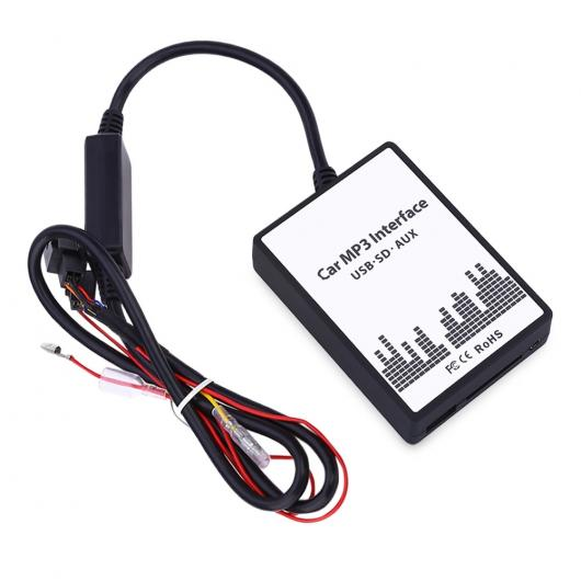 AL カー MP3 インタフェース USB SDデータ ケーブル オーディオ デジタル CD チェンジャー DC 12V 内蔵 アンプ チップ無 シグナル 妨害 BMW 4 AL-AA-7073