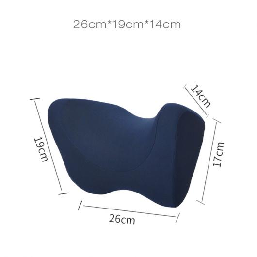 AL ヘッドレスト ネック保護 カー 枕 コットン ピロー カーシート用 選べる6カラー ブラック~ダークブルー AL-AA-7212