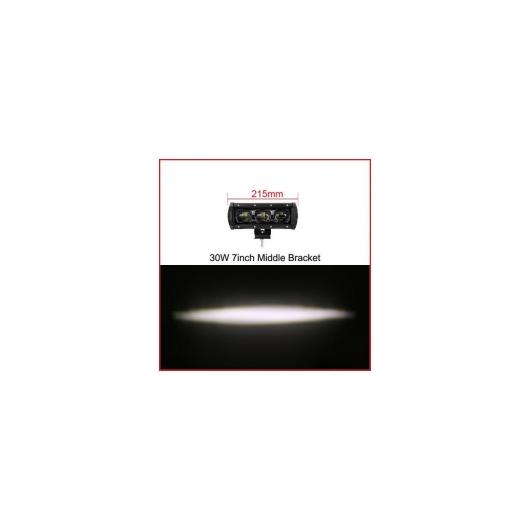 AL 6D レンズ 単列 LED ライトバー車 トラック 4WD オフ道路 ATV トレーラー 防水 LED ライトバーオフロード 7 Inch 30W x1 AL-AA-7315