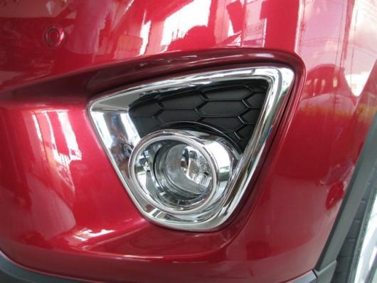 AL 車用メッキパーツ フロントフォグライトランプ カバー トリム クローム マツダ CX5 CX-5 2013 AL-AA-7973