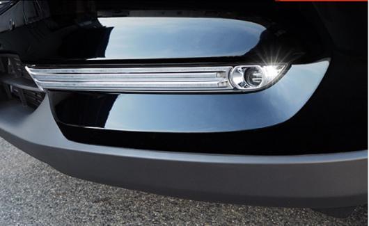 AL 車用メッキパーツ ABS クローム アクセサリー フロントヘッドフォグランプフレーム 2017 2018 マツダ CX-8 CX8 2ピース セット AL-AA-7977