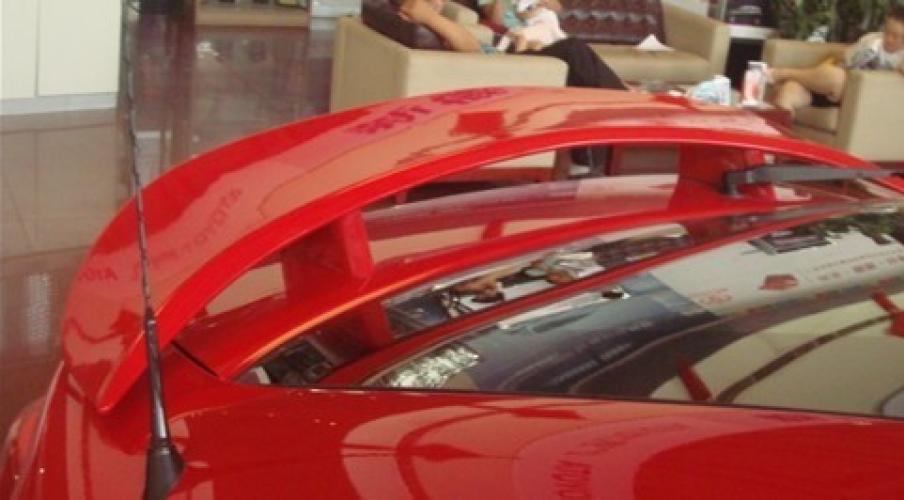 AL 未塗装 ABS テールウィング ルーフバイザー リアスポイラー トヨタ ゼラス 2011 AL-AA-8116