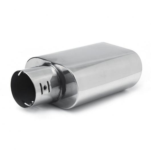 AL 汎用マフラーチップ マフラーカッター クロームステンレス スチール エキゾースト ストレートテールパイプ 60mm IN AL-AA-9226