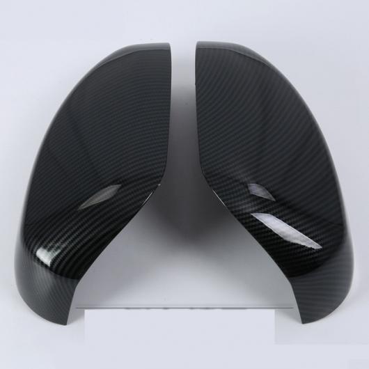 AL 2ピースセット バック ミラー 装飾 カバー ステッカー カーボンファイバー 装飾 三菱 エクリプスクロス 2018 ブラック AL-AA-9257