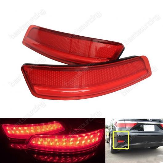 AL LED レッド レンズ リア バンパー リフレクターテールブレーキストップライト レクサス ES GS 2013 + トヨタ カローラ AL-AA-9380