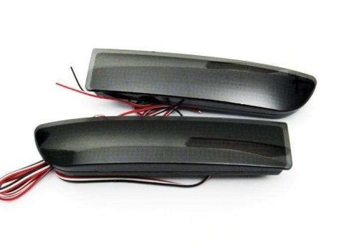 AL ブラックスモーク リア バンパー リフレクター LED ブレーキライト トヨタ アベンシス アルファード 09 10 11 AL-AA-9391
